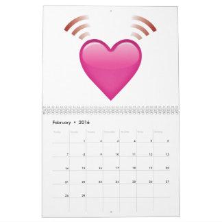 Beating Pink Heart - Emoji Calendar