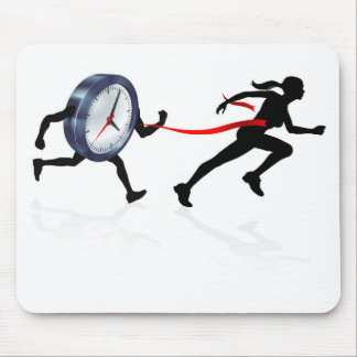 Beating the Clock Mouse Pad