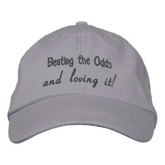 Beating the Odds and loving it! Adjustable Hat Embroidered Hat