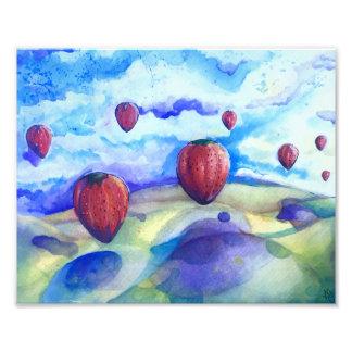 Beatles Inspired Strawberry Art Photo Print