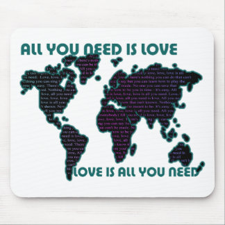 Beatles World All You Need Is Love Mouse Pad