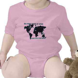 Beatles World All You Need Is Love Baby Bodysuit