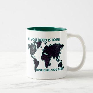 Beatles World All You Need Is Love Two-Tone Coffee Mug