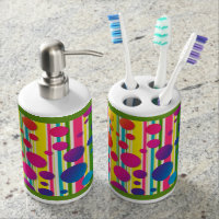 [Beatnik Bubbles] Retro Polka Dot Striped Rainbow Bath Set