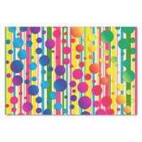 [Beatnik Bubbles] Retro Polka Dot Striped Rainbow Tissue Paper