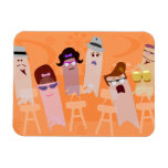 Beatnik Ghost Party! Rectangle Magnet