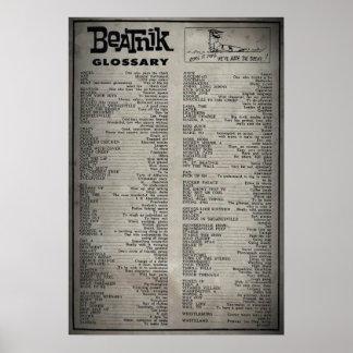 Beatnik Glossary (poster) Poster