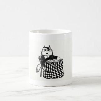 Beatnik Kitty Coffee Mug