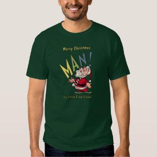 Beatnik Santa Claus Tee Shirt