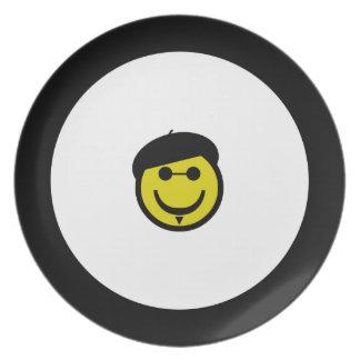Beatnik Smiley Dinner Plate