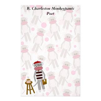 Beatnik Sock Monkey Stationery