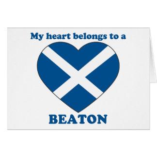 Beaton Card