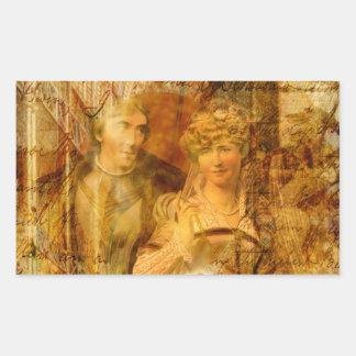 Beatrice and Benedick Rectangular Sticker