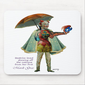 Beatrice and Her Mardi Gras Costume Mousepad