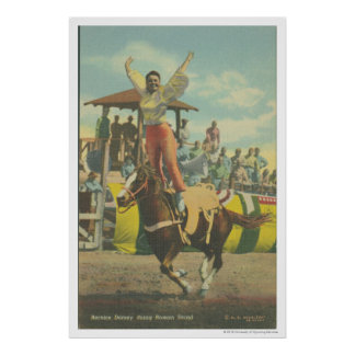 Beatrice Cooper doing a Roman Stand. Poster