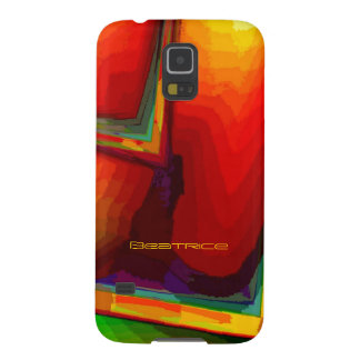 Beatrice Green and Orange Galaxy s5 cover