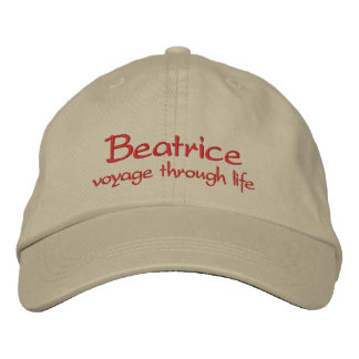 Beatrice Name Cap / Hat Embroidered Baseball Caps