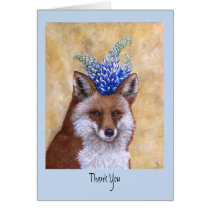 Beatrice the Fox thank you card