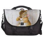 Beatrix Potter: Bunny Girl Drinking Tea Laptop Computer Bag