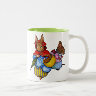Beatrix Potter Characters: Freehand Art: Animals Two-Tone Coffee Mug