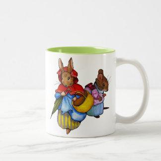 Beatrix Potter Characters: Freehand Art: Animals Two-Tone Coffee Mug