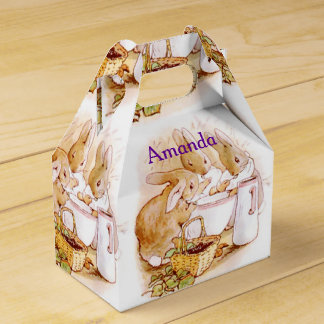 Beatrix Potter, Custom Birthday, Easter Favor Box