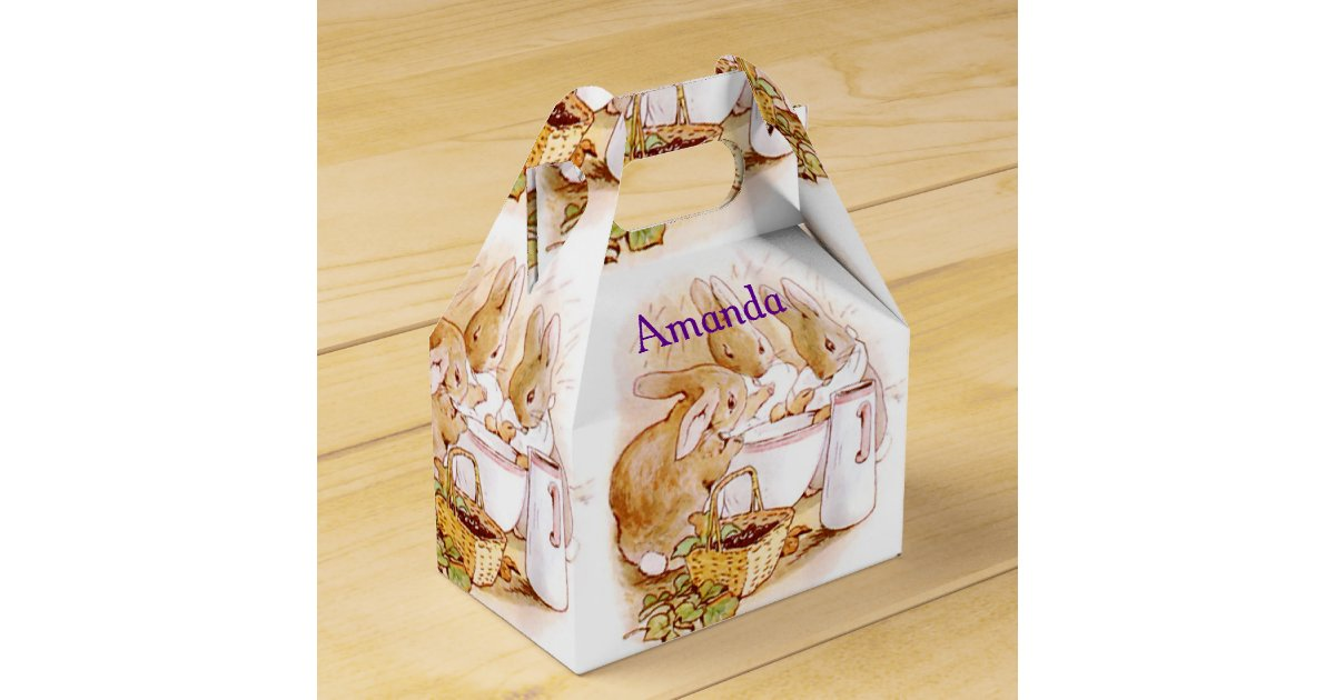 Happy birthday easter bunny gifts on zazzle beatrix potter custom birthday easter favor box negle Image collections