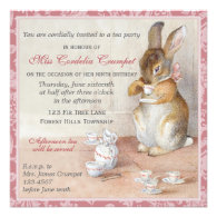 Beatrix Potter Custom Birthday Party Invitation