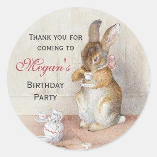 Beatrix Potter Custom Birthday Party Stickers