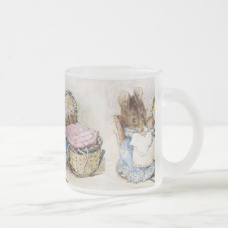 Beatrix Potter Frosted Glass Coffee Mug