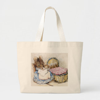 Beatrix Potter, Hunca Munca, Vintage Large Tote Bag
