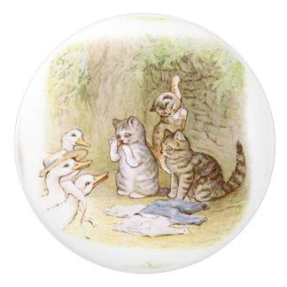Beatrix Potter, Kittens and Ducks,  Ceramic Knob
