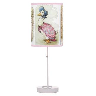 Beatrix Potter, lámpara del pato del charco de