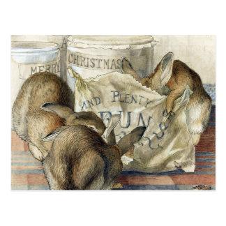 Beatrix Potter Merry Christmas Rabbit Postcards