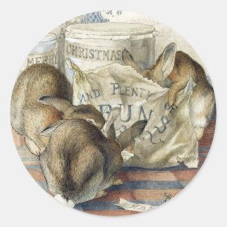 Beatrix Potter Merry Christmas Rabbit Stickers