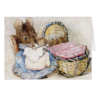 Beatrix Potter, Mother and Baby, Custom Card