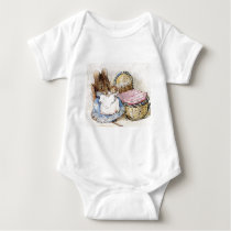 Beatrix Potter, Mother Mouse and Babies Baby Bodysuit