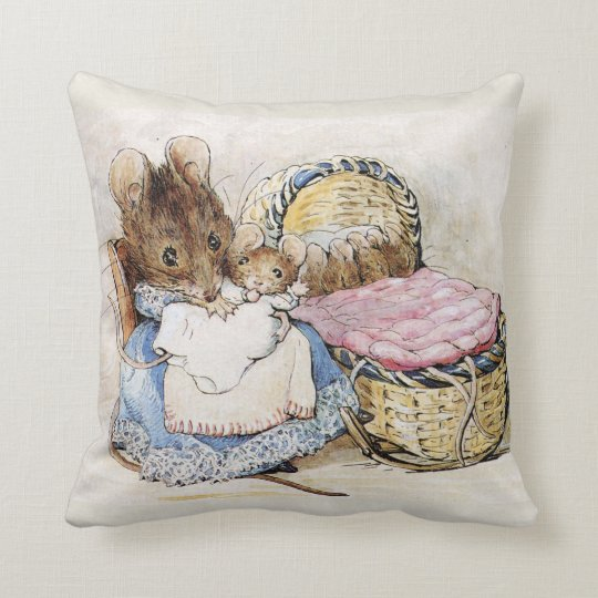 Beatrix Potter Mother S Day Baby Shower Pillow Zazzle Com