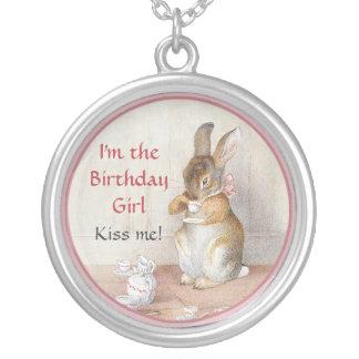 Beatrix Potter Rabbit Birthday Girl Bunny Necklace