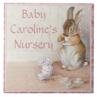 Beatrix Potter Rabbit Custom Art Tile or Trivet