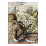 Beatrix Potter Rabbits Custom Christmas Card