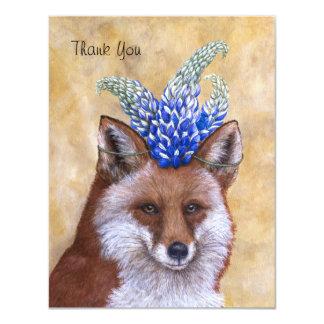 """Beatriz el Fox le agradece tarjeta plana Invitación 4.25"""" X 5.5"""""""