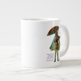 Beatriz y sus tazas de la especialidad del traje d