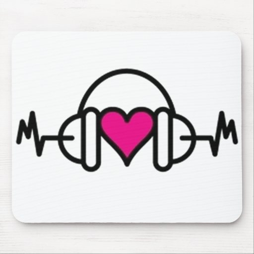 Beats of Love Mouse Pad