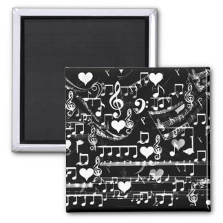 Beats of my heart_ 2 inch square magnet