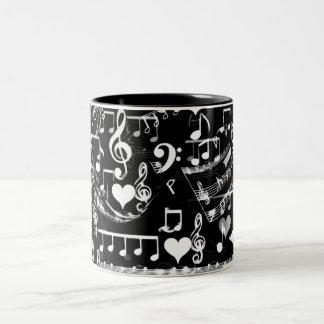 Beats of my heart_ Two-Tone coffee mug