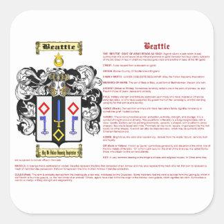 Beattie (meaning) square sticker