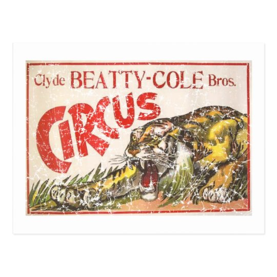 Beatty Cole Circus - 1903 - distressed Postcard