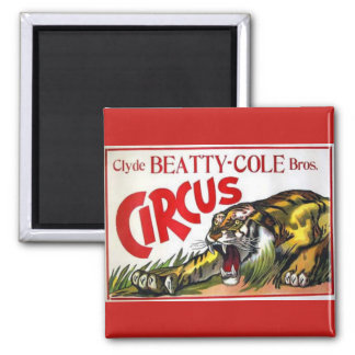 Beatty Cole Circus 2 Inch Square Magnet