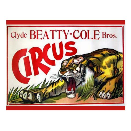 Beatty Cole Circus Post Card